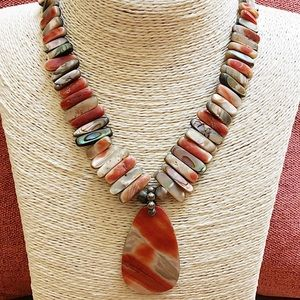 SILPADA 925 Red California Abalone Necklace N1046
